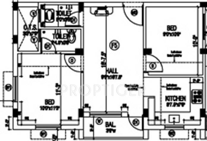 925 Sq Ft 2 Bhk 2t Apartment For Sale In Sai Shrishti