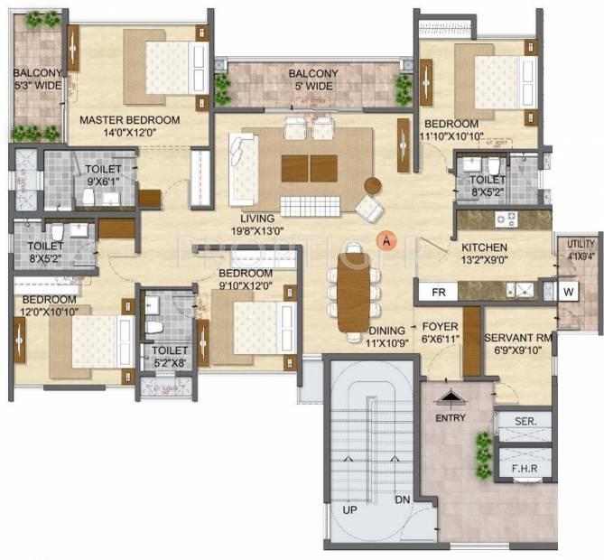 Olympia Opaline Sequel (4BHK+4T (2,323 sq ft) + Servant Room 2323 sq ft)