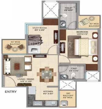 770 Sq Ft 2 Bhk 2t Apartment For Sale In Prateek Group
