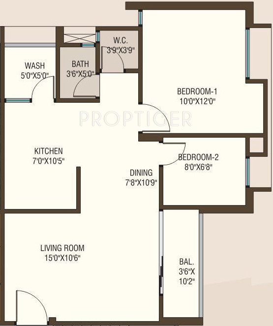 950 Sq Ft 2 Bhk 2t Apartment For Sale In Shreenath Group