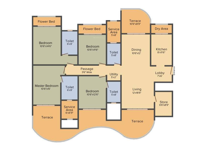 Mohan Altezza (4BHK+4T (3,050 sq ft) 3050 sq ft)