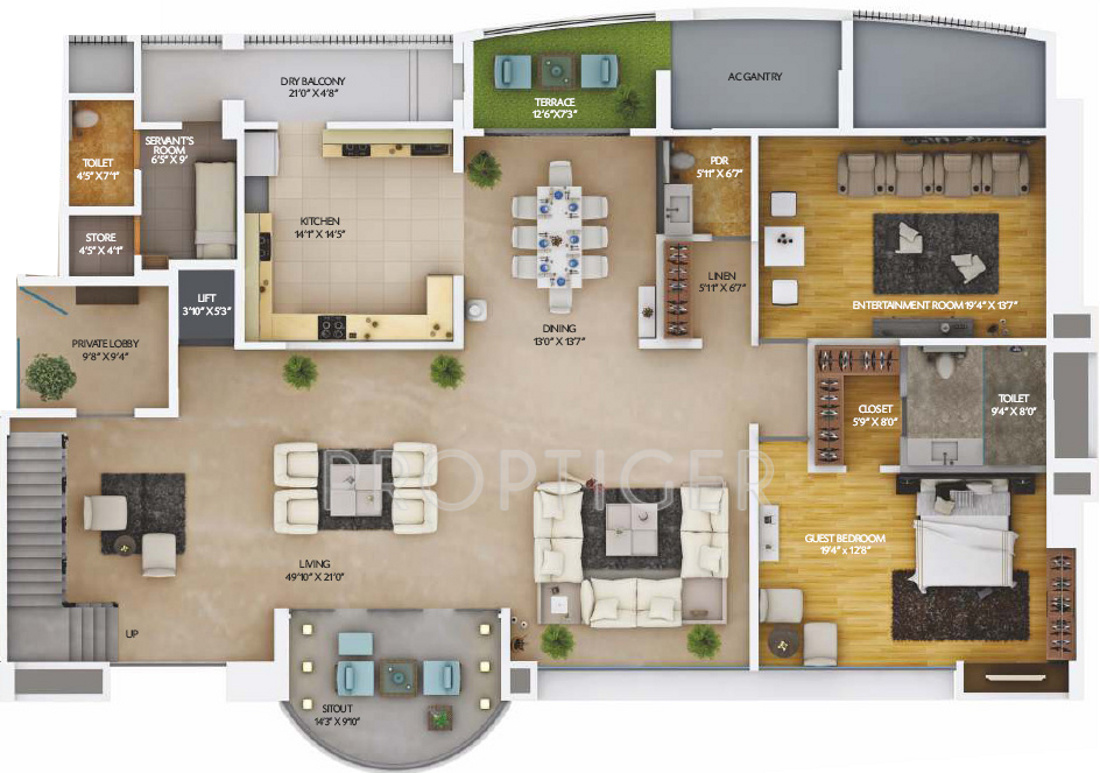 5960 Sq Ft 4 Bhk 5t Apartment For Sale In Amar Builders: 5 bhk duplex floor plan