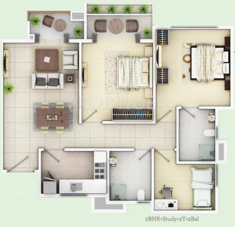 1125 sq ft 2 bhk 2t apartment for sale in siddha