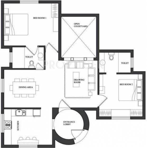 Innovative Shahi Vilaas (2BHK+2T (1,200 sq ft) 1200 sq ft)