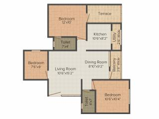 1083 Sq Ft 3 Bhk 2t Apartment For Sale In Dugar Homes Glo