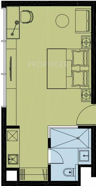 Ireo Waterfront (1BHK+1T (713 sq ft) 713 sq ft)