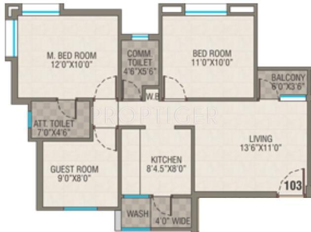 1100 sq ft 3 bhk floor plan image pawan group viram 2 for 1100 sq ft floor plans