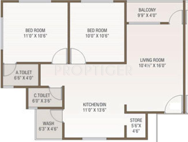 1000 sq ft 2 bhk 2t apartment for sale in green group for 1000 sq ft 2bhk house plans