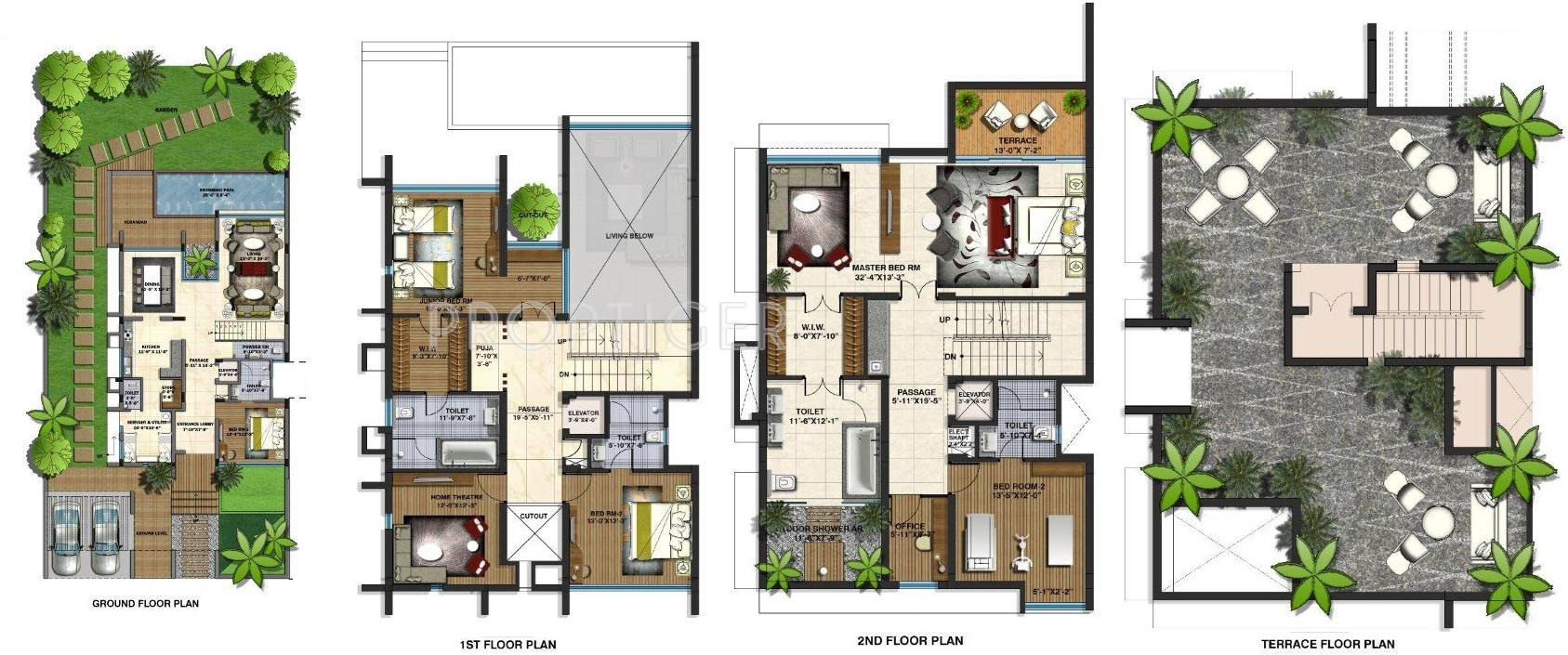 Villa plan for Plan villa r 2