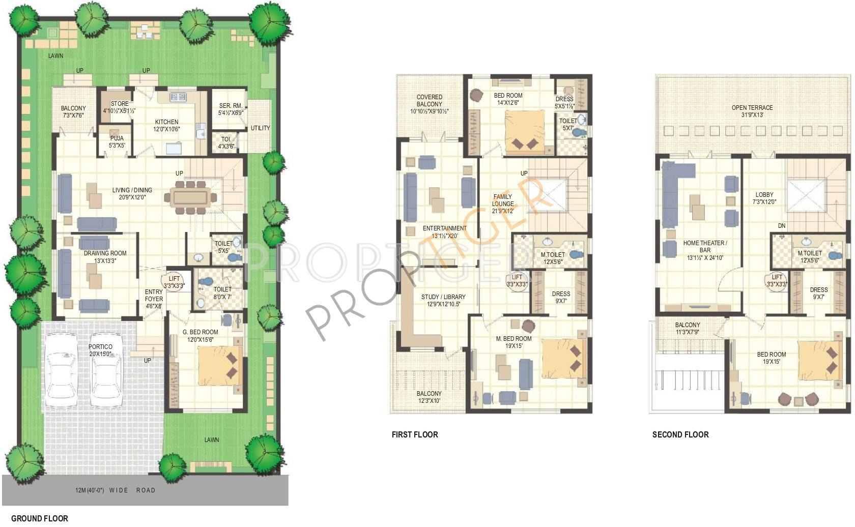 4498 Sq Ft 4 Bhk Floor Plan 4bhk 6t Sr 4498 Sq Ft Image