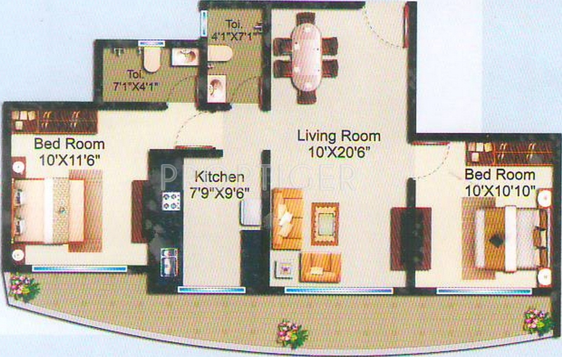 950 sq ft 2 bhk 2t apartment for sale in dev land housing for 950 sq ft