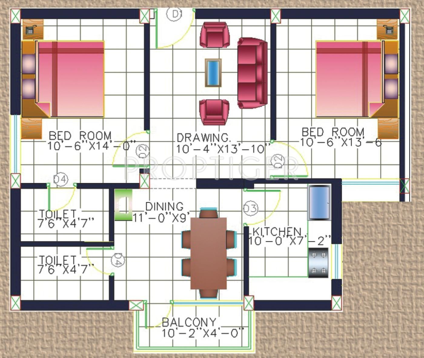 1100 sq ft 2 bhk 2t apartment for sale in kalvik builders for 1100 sq ft apartment floor plan