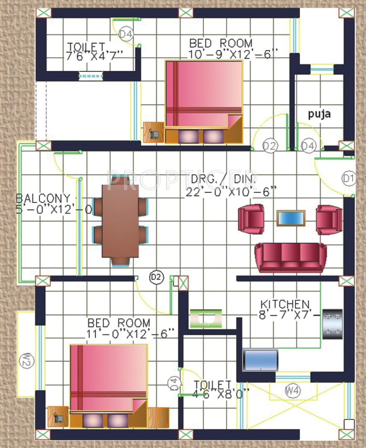 1125 sq ft 2 bhk 2t apartment for sale in kalvik builders for 1125 sq ft floor plan
