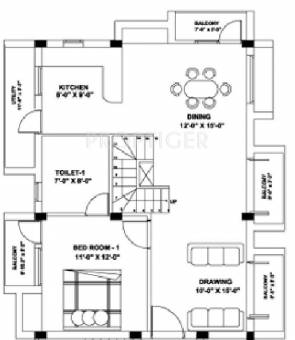 House Plans additionally Sierra Style Kit Home additionally Excel Modular Homes Blue Ridge additionally Home Plans 1200 Sq Ft And Less likewise Plan For 30 Feet By 35 Feet Plot  plot Size 117 Square Yards  Plan Code 1438. on 1200 square foot house plans