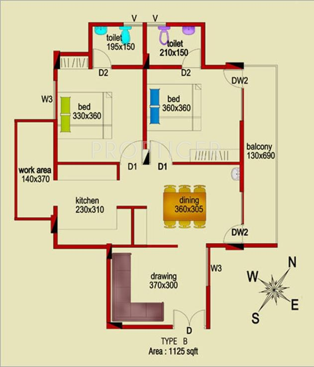 1125 sq ft 2 bhk 2t apartment for sale in dream flower for 1125 sq ft floor plan