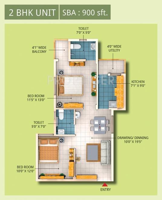 900 sq ft 2 bhk 2t apartment for sale in trishakti for 900 sq ft apartment floor plan