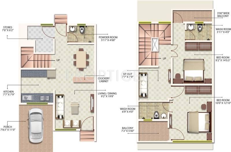 Radha Yashoda Villa (2BHK+2T (1,040 sq ft) 1040 sq ft)