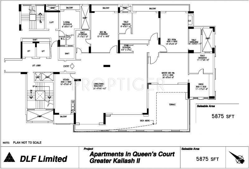 DLF Queens Court (4BHK+4T (5,875 sq ft)   Servant Room 5875 sq ft)