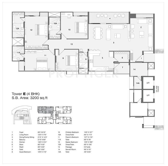 3200 sq ft 4 bhk 4t apartment for sale in nilamber group for 3200 sq ft house plans