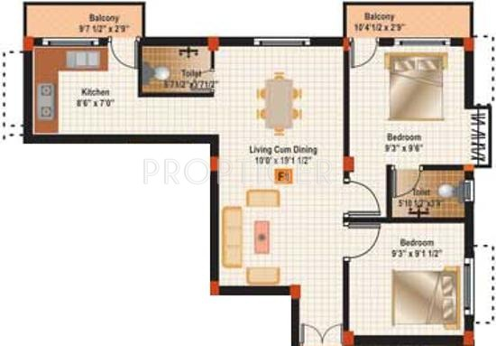 Muthuram Muthuram Project (2BHK+2T (802 sq ft) 802 sq ft)