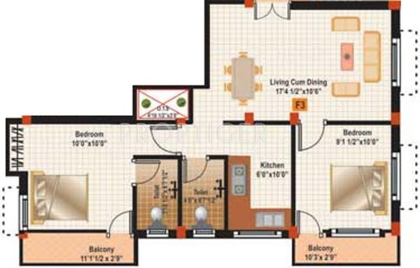 Muthuram Muthuram Project (2BHK+2T (816 sq ft) 816 sq ft)