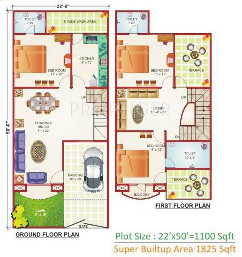 Geet ganesh villa in ayodhya nagar bhopal price Indian villa floor plans