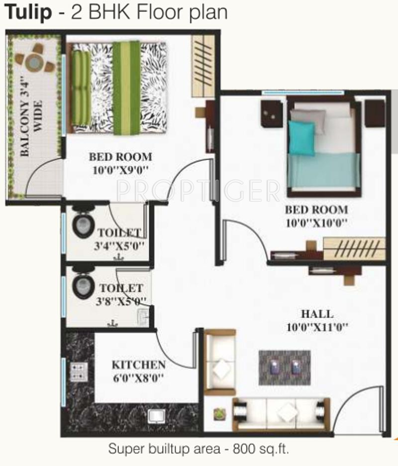 800 sq ft 2 bhk 2t apartment for sale in shri parasnath for 800 sq ft apartment floor plan