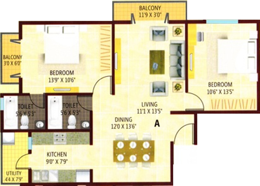 1175 sq ft 2 bhk 2t apartment for sale in beancity for Apartment design development pvt ltd