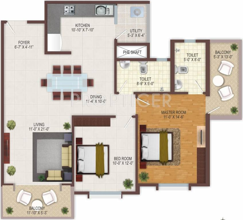 1200 sq ft 2 bhk 2t apartment for sale in sumadhura for Apartment plans 1200 sq ft