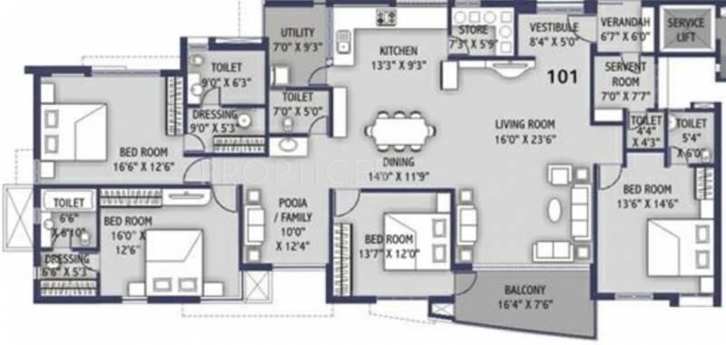 4000 sq ft 4 bhk floor plan image ravani developers for 4000 sq feet