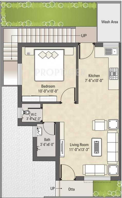 600 Sq Ft 1 BHK 1T Villa For Sale In Darshanam Group Eco