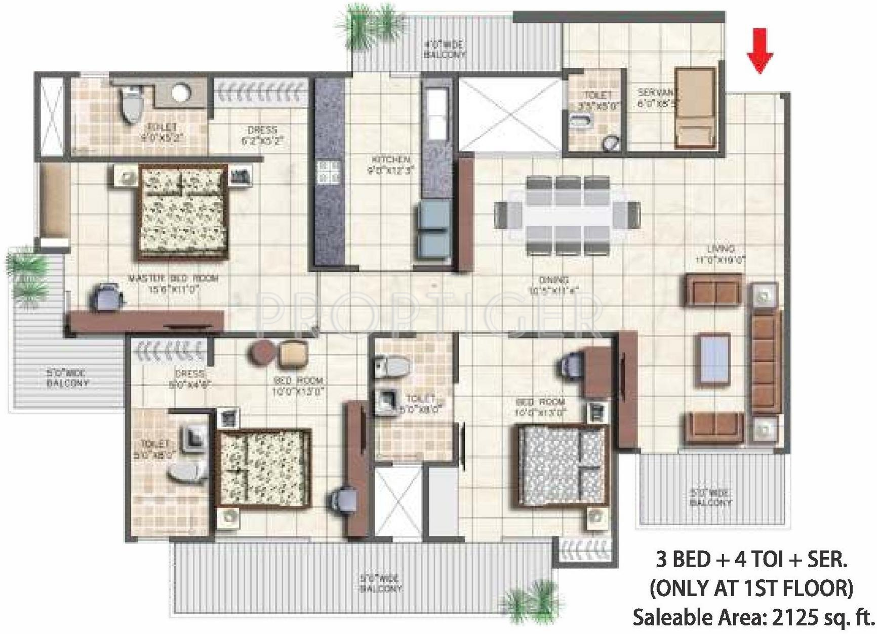 4 Bedroom Floor Plans  Floorplanscom