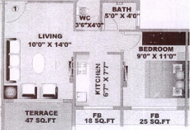 640 Sq Ft 1 Bhk 1t Apartment For Sale In Shagun White