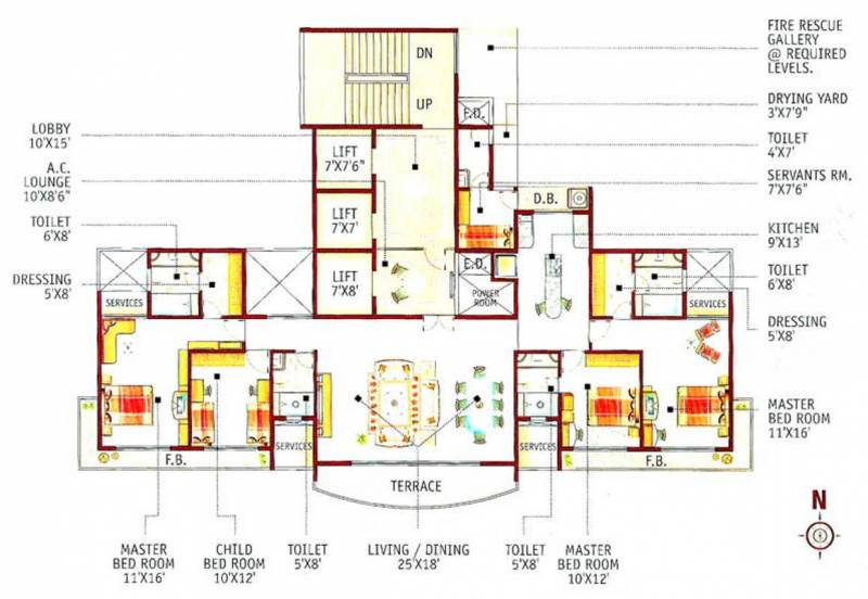 Lotus Group Of Companies Acropolis (4BHK+4T (3,150 sq ft) 3150 sq ft)