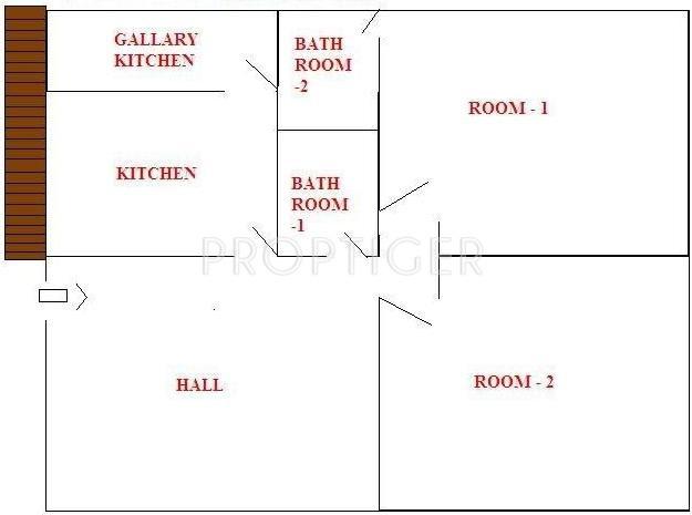 Suvas Shreenath Residency (2BHK+2T (927 sq ft) 927 sq ft)
