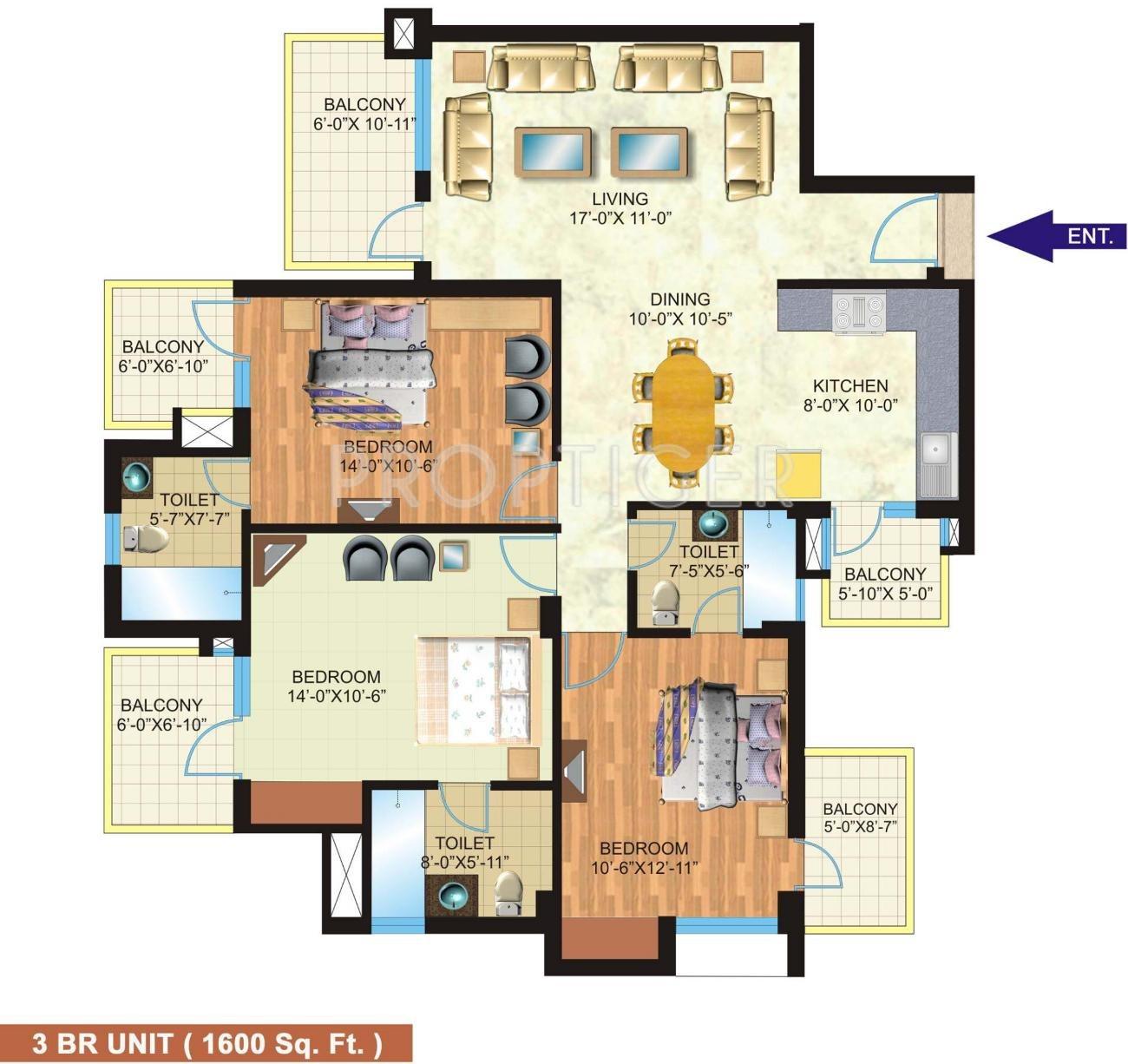 Klj heights in sector 15 bahadurgarh jhajjar price for 1200 post oak floor plans