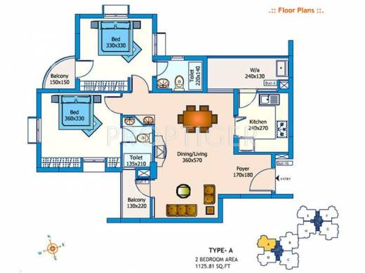 1517 sq ft 3 bhk 3t apartment for sale in trinity for 1125 sq ft floor plan