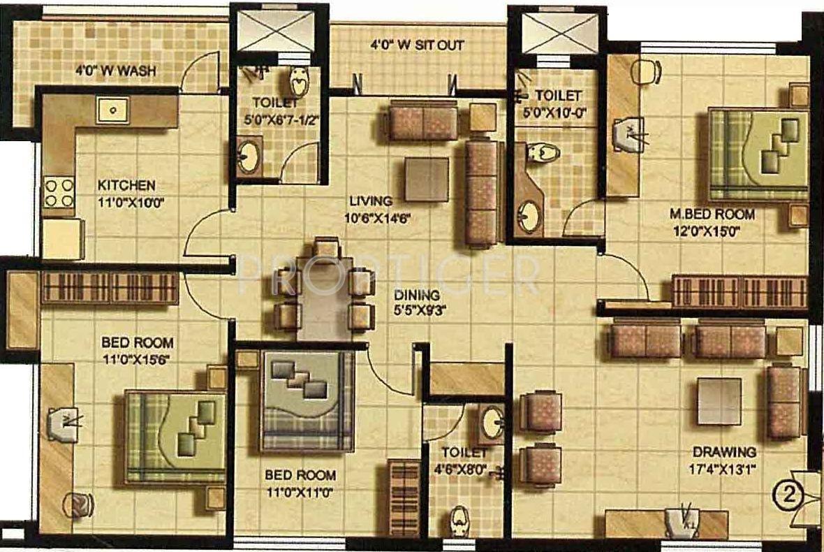 Unique Apartment Floor Plans In Hyderabad Plan Ideas