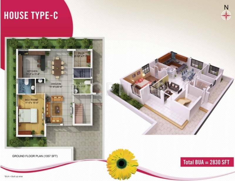 Kapis Shivam Greens (4BHK+5T (2,830 sq ft) + Pooja Room 2830 sq ft)