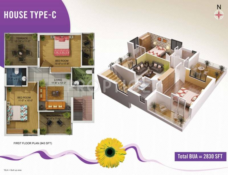 Kapis Shivam Greens (4BHK+5T (2,830 sq ft) + Pooja Room 2830 sq ft)