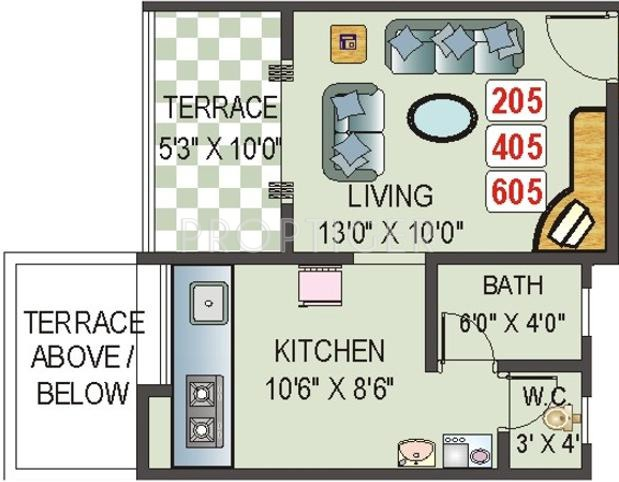 ACME Veronica Park (1BHK+1T (410 sq ft) 410 sq ft)