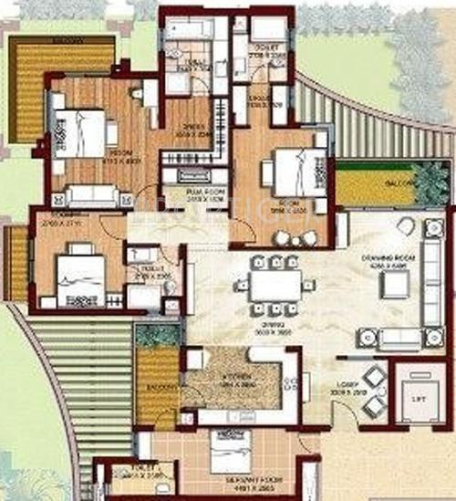 Parsvnath Prideasia (3BHK+4T (2,900 sq ft) + Servant Room 2900 sq ft)
