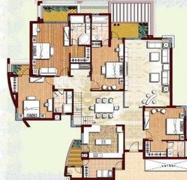 Parsvnath Prideasia (4BHK+5T (3,700 sq ft) + Servant Room 3700 sq ft)