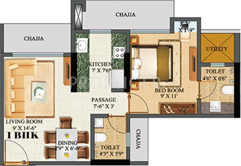 650 sq ft 1 bhk 1t apartment for sale in sethia for 650 sq ft apartment floor plan