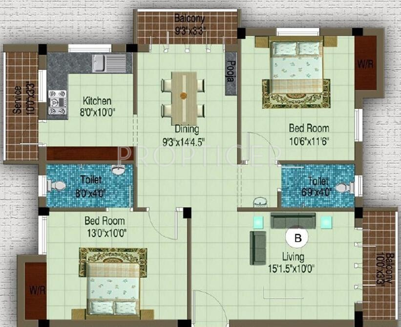1150 sq ft 2 bhk 2t apartment for sale in sowbhagya homes for 1150 sq ft house plans