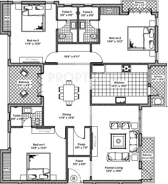 1350 sq ft 3 bhk 3t apartment for sale in sri venkateswara for 1350 sq ft house plan