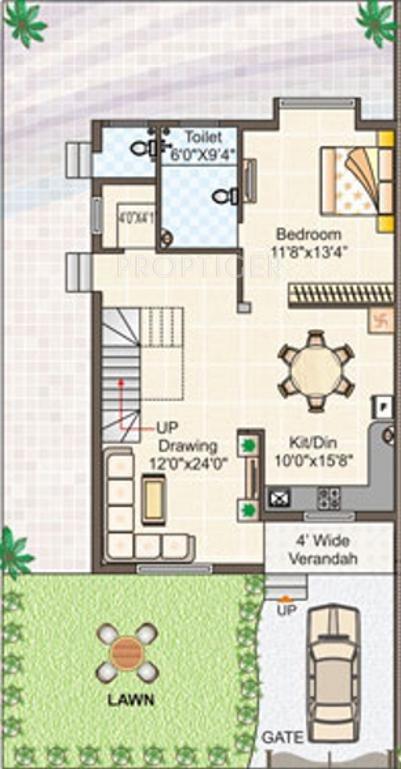 2000 Sq Ft 3 Bhk 3t Villa For Sale In Gangwani