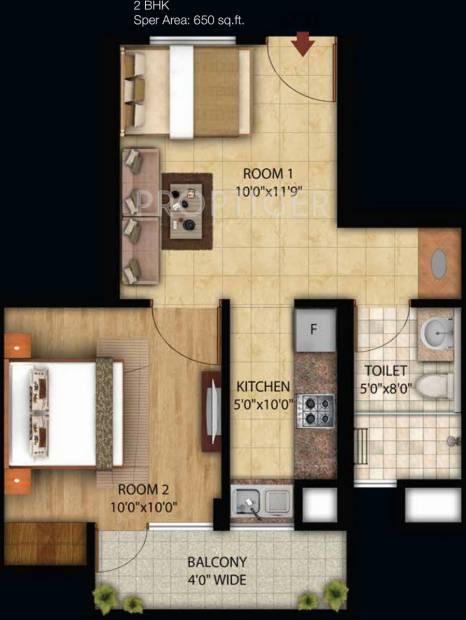 Omson Star Residency (2BHK+1T (650 sq ft) 650 sq ft)