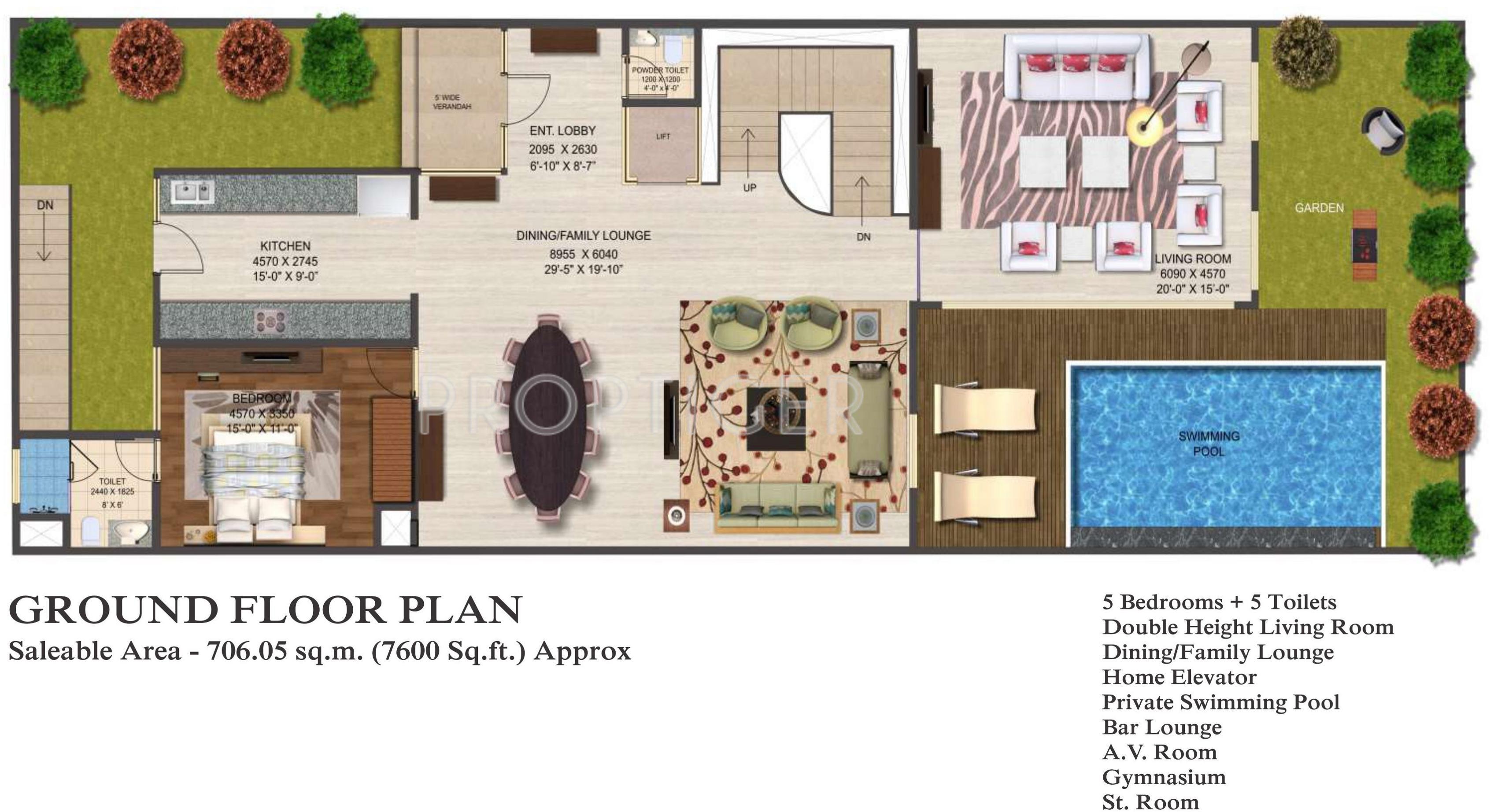 Mahagun mahagun mirabella villa in sector 79 noida for Real estate floor plan pricing