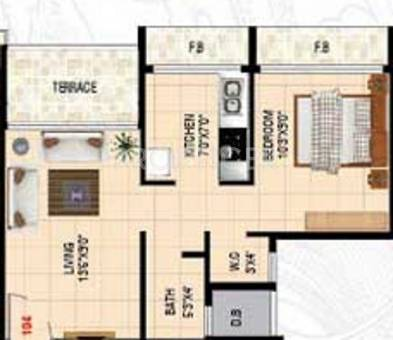 640 Sq Ft 1 Bhk 1t Apartment For Sale In Dolly Developers